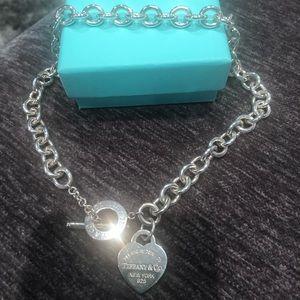 Tiffany heart tag necklace